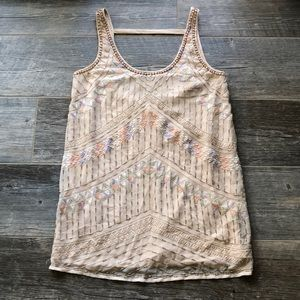 Free People Embroidered Beaded Dress Size XS